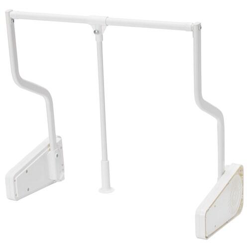 KOMPLEMENT barra ropa abatible extensible blanco 75 cm 100 cm 6 kg
