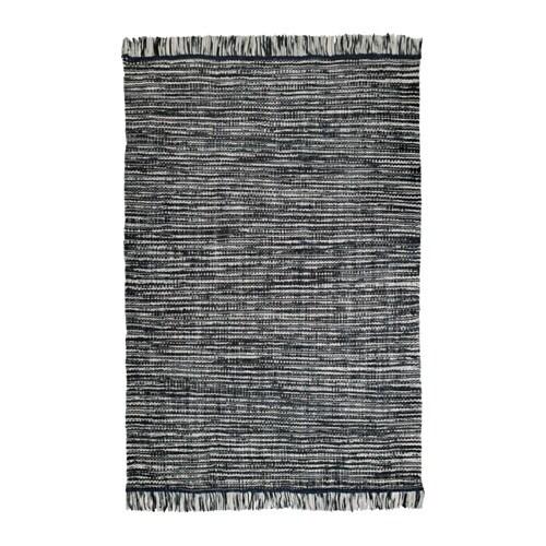 K penhamn alfombra a mano gris oscuro 170x240 cm ikea - Alfombra gris ikea ...
