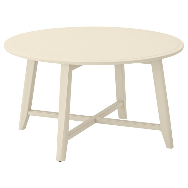 KRAGSTA mesa de centro beige claro 48 cm 90 cm
