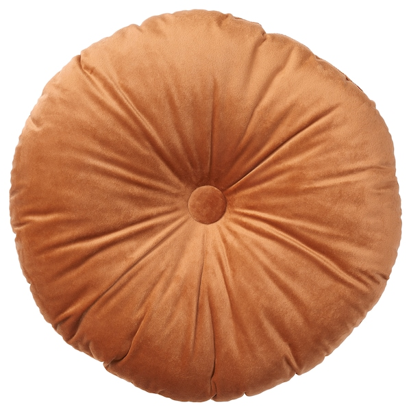 KRANSBORRE Cojín, marrón dorado, 40 cm