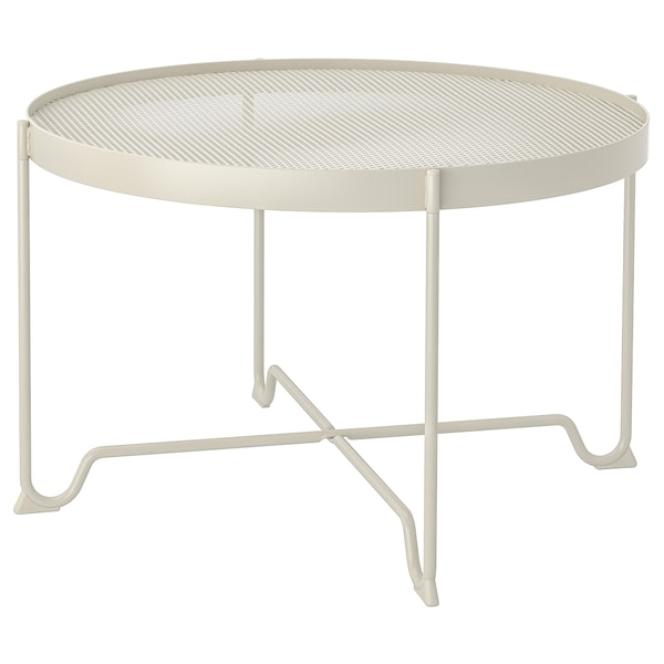 KROKHOLMEN Mesa centro ext, beige, 73 cm