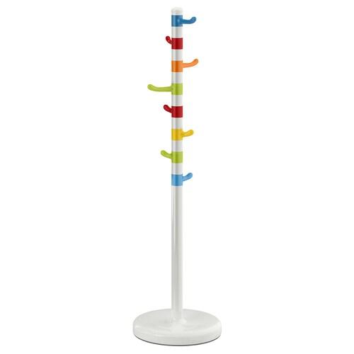 KROKIG perchero blanco/multicolor 128 cm