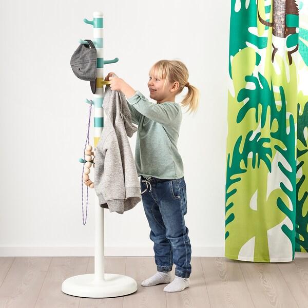 KROKIG Perchero, blanco/multicolor, 128 cm