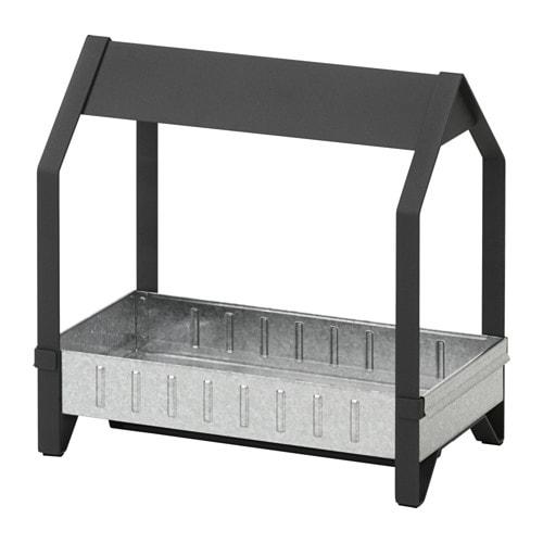 KRYDDA Mòdul de cultiu, negre, galvanitzat - IKEA