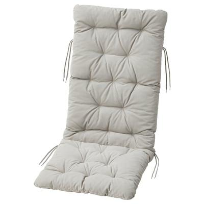 KUDDARNA Cojín respaldo/asiento ext, gris, 116x45 cm