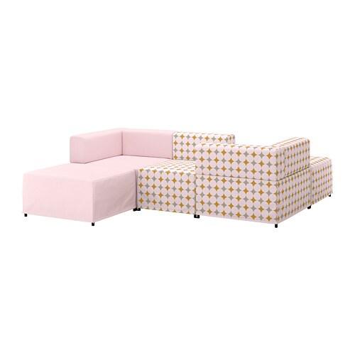 Kungshamn sof modular 3 plazas idekulla rosa yttered for Sofa modular tela