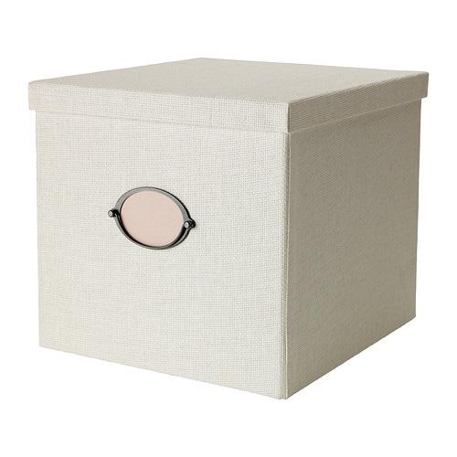 Caja con tapa, blanco - IKEA