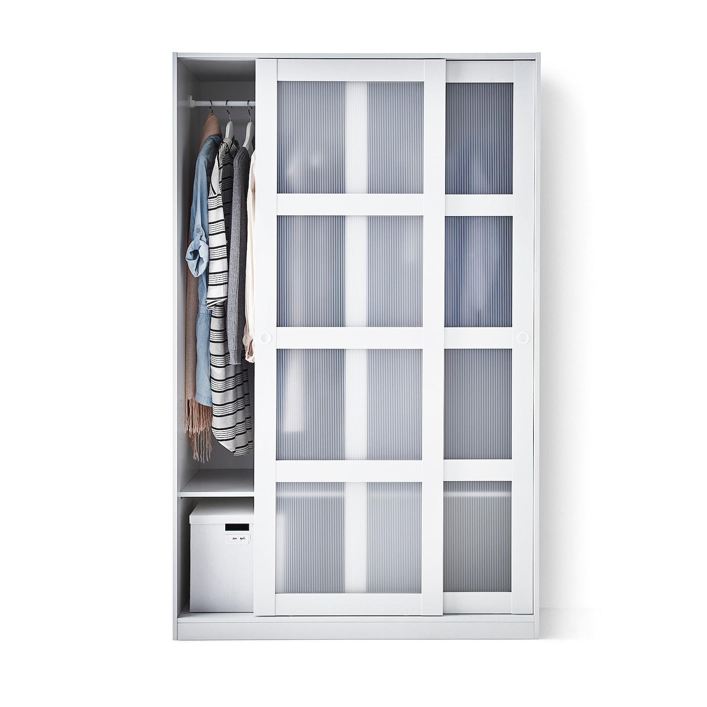 Kvikne armario 2 puertas correderas blanco 120 x 190 cm ikea - Armario 120 puertas correderas ...