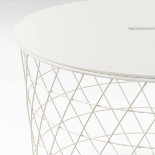 KVISTBRO Mesa de almacenaje, blanco, 61 cm