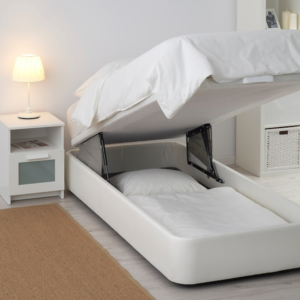 Kvitsöy Canapé Tapizado Bomstad Blanco 90x190 Cm Ikea