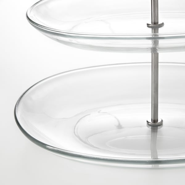 KVITTERA Frutero, 3 pisos, vidrio incoloro/ac inox