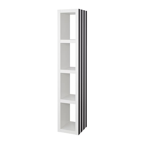lack estanter a negro blanco 35 x 190 cm ikea. Black Bedroom Furniture Sets. Home Design Ideas