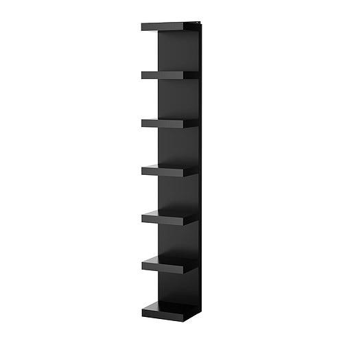 Lack estanter a de pared negro ikea - Ikea estanterias lack ...