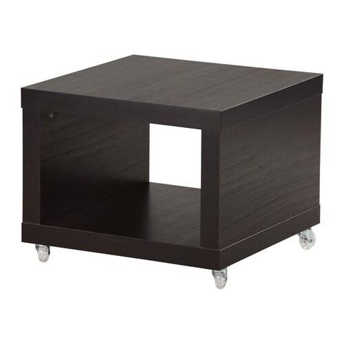 Lack mesa auxiliar con ruedas negro marr n ikea for Mesa con ruedas ikea