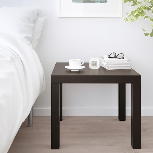 LACK Mesa auxiliar, negro-marrón, 55x55 cm