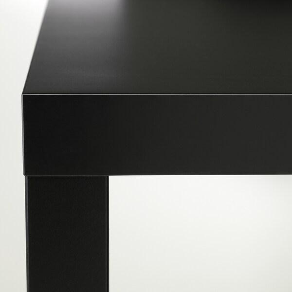 LACK Mesa auxiliar, negro, 55x55 cm