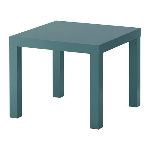Lack mesa auxiliar gris turquesa ikea for Ikea mesas auxiliares