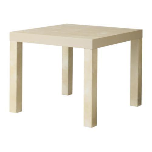 Lack mesa auxiliar efecto abedul ikea for Mesa auxiliar plegable ikea