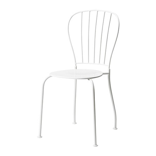 L ck silla ext blanco ikea for Sillas de exterior ikea