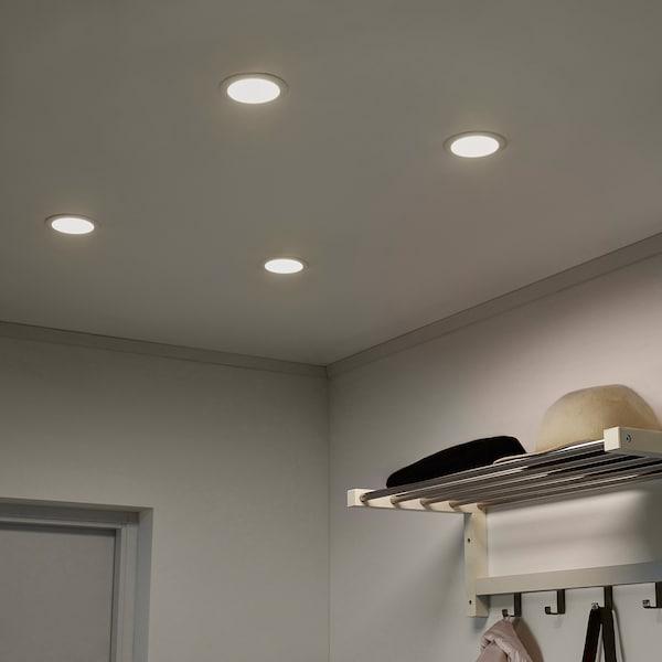 LAKENE Foco empotrado, blanco ópalo