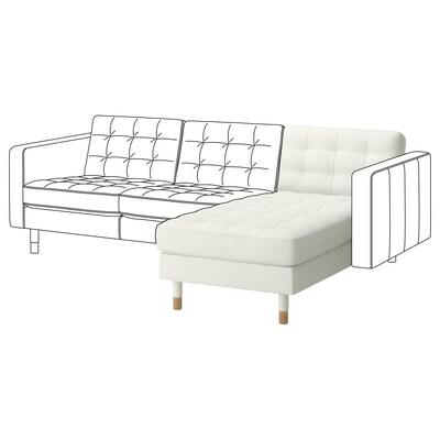LANDSKRONA Chaiselongue, módulo adicional, Grann/Bomstad blanco/madera