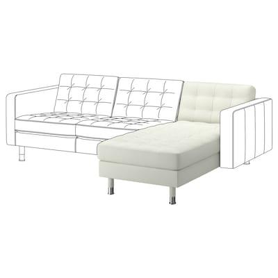 LANDSKRONA Chaiselongue, módulo adicional, Grann/Bomstad blanco/metal