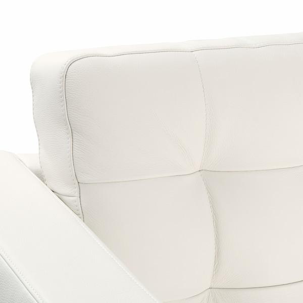 LANDSKRONA Sofá 5 plazas, con chaiselongues/Grann/Bomstad blanco/madera