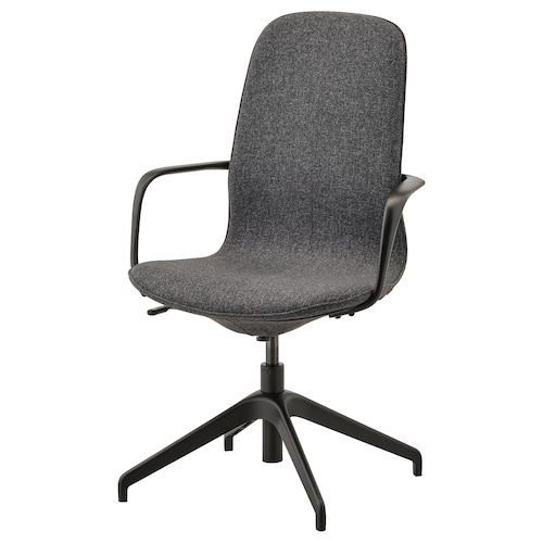 LÅNGFJÄLL silla juntas con reposabrazos Gunnared gris oscuro/negro 110 kg 67 cm 67 cm 104 cm 53 cm 41 cm 43 cm 53 cm