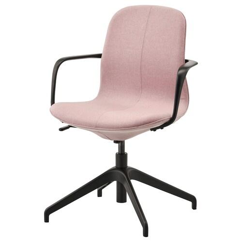 LÅNGFJÄLL silla juntas con reposabrazos Gunnared marrón rosa claro/negro 110 kg 67 cm 67 cm 92 cm 53 cm 41 cm 43 cm 53 cm