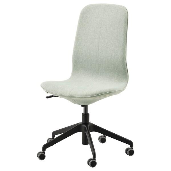 LÅNGFJÄLL silla de trabajo Gunnared verde claro/negro 110 kg 68 cm 68 cm 104 cm 53 cm 41 cm 43 cm 53 cm