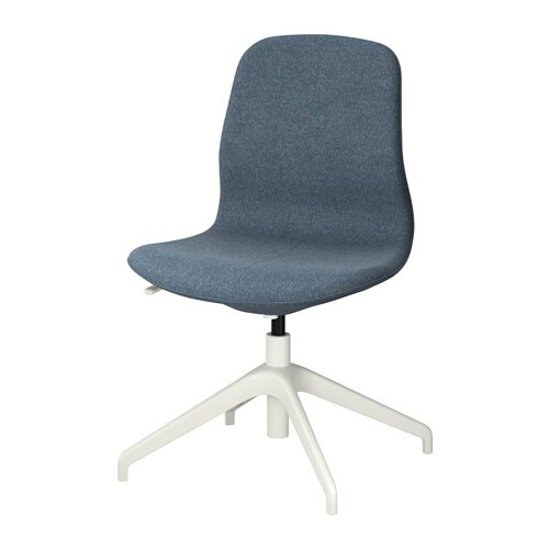 L ngfj ll silla giratoria gunnared azul blanco ikea - Silla ergonomica ikea ...