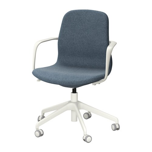 l ngfj ll silla giratoria gunnared azul blanco ikea. Black Bedroom Furniture Sets. Home Design Ideas