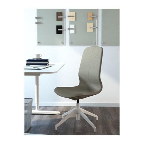 L ngfj ll silla giratoria gunnared verde claro blanco - Silla ergonomica ikea ...