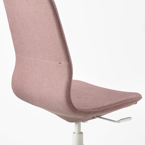 LÅNGFJÄLL Silla de trabajo, Gunnared marrón rosa claro/blanco