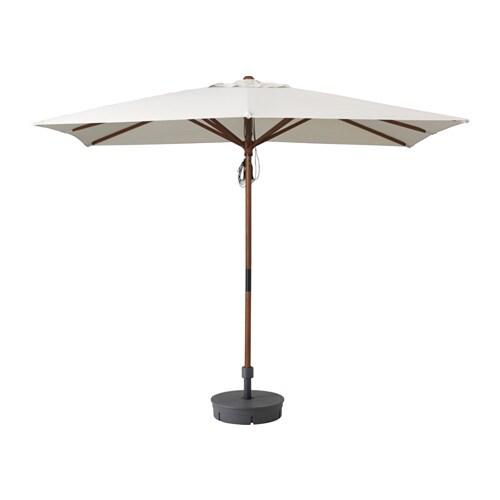 L ngholmen sombrilla con soporte beige gryt gris oscuro - Sombrillas terraza ikea ...