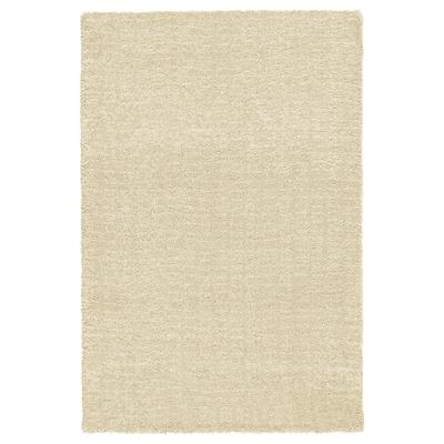 LANGSTED Alfombra, pelo corto, beige, 133x195 cm