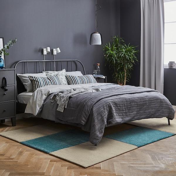 LANGSTED Alfombra, pelo corto, beige, 90 x60 cm IKEA