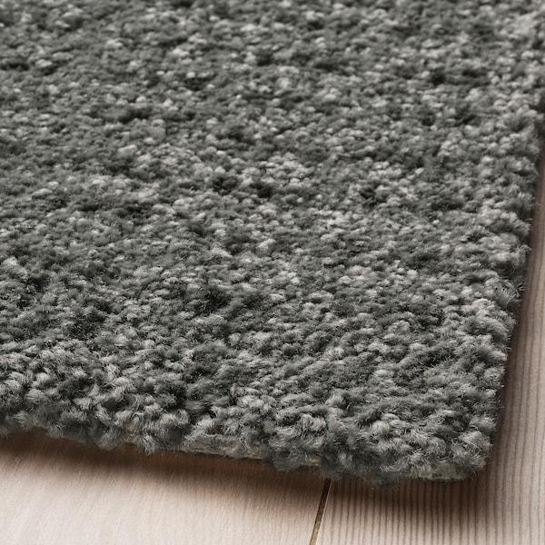 LANGSTED Alfombra, pelo corto, gris claro, 60x90 cm