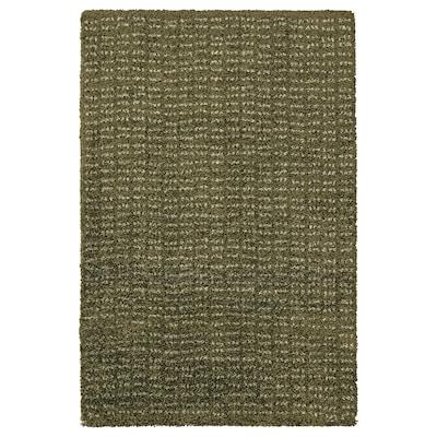 LANGSTED Alfombra, pelo corto, verde oscuro, 60x90 cm