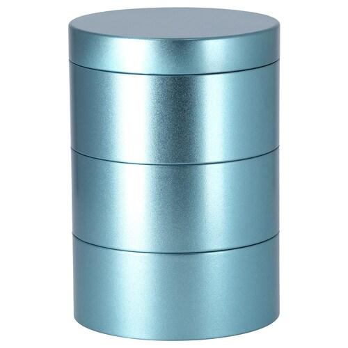 LANKMOJ caja decorativa azul 17 cm 12 cm