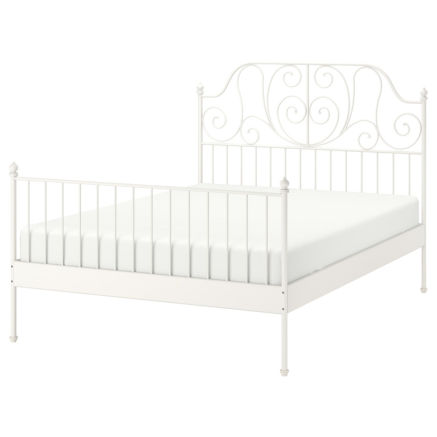 LEIRVIK Estructura de cama blancoLeirsund 140x200 cm