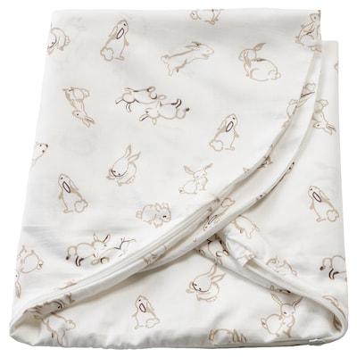 LEN Funda almohada lactancia, motivo conejo/blanco, 60x50x18 cm