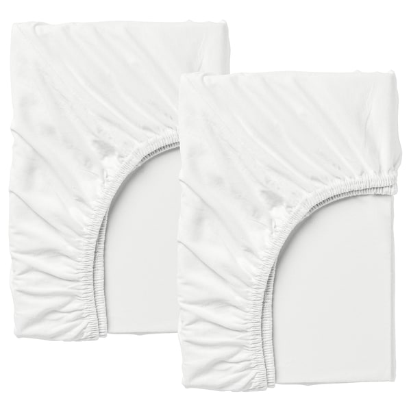 LEN Sábana ajust cama extens jgo 2, blanco IKEA