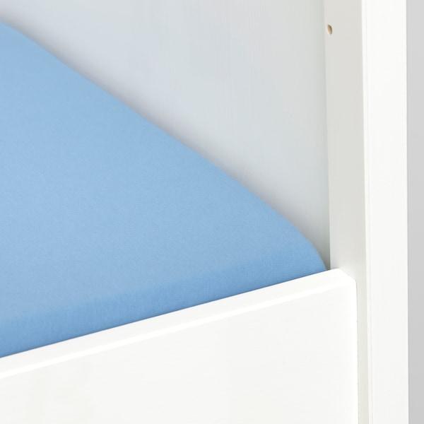 LEN Sábana ajustable para cuna barr, azul claro, 60x120 cm