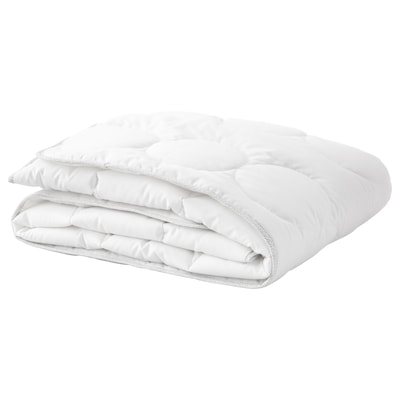 LENAST Edredón para cuna, blanco/gris, 110x125 cm