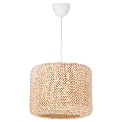 LERGRYN / HEMMA Lámpara de techo, beige/blanco