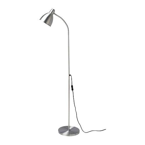 LERSTA Lámpara de pie/de lectura, aluminio, A++
