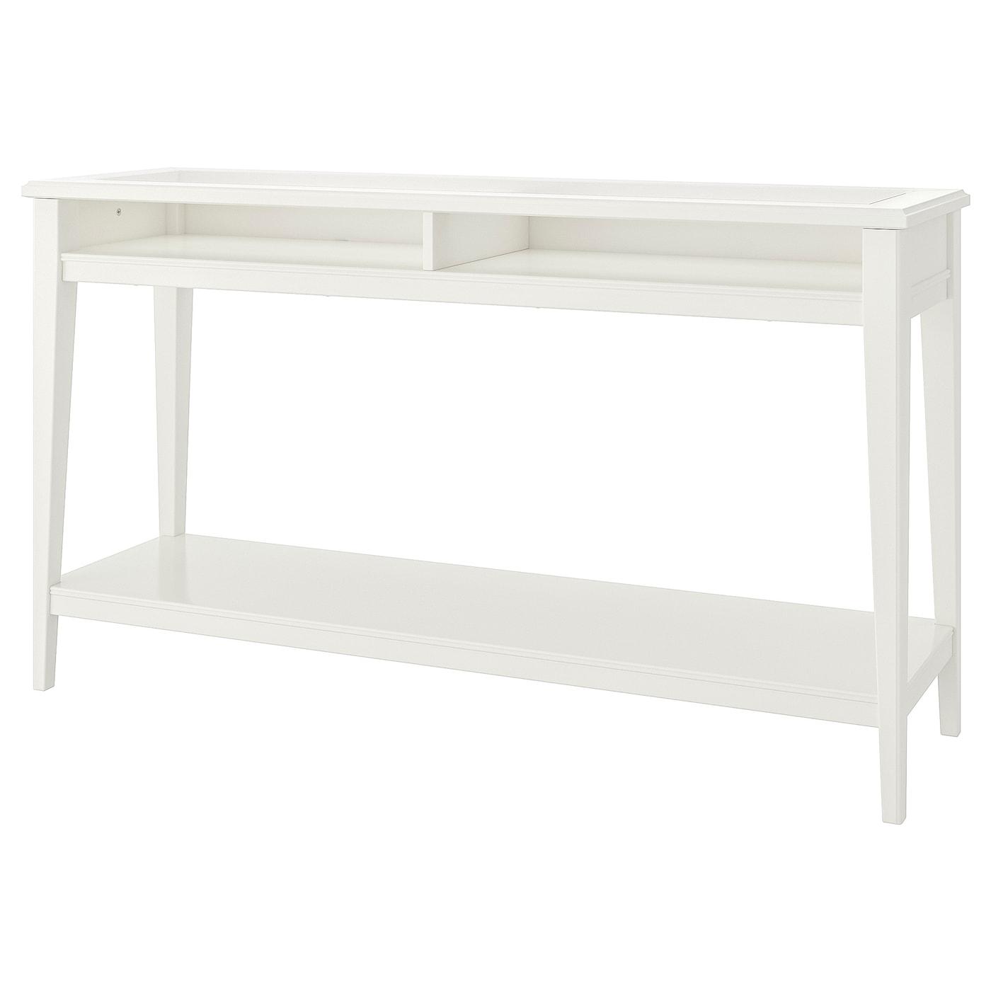 Consola, blanco/vidrio