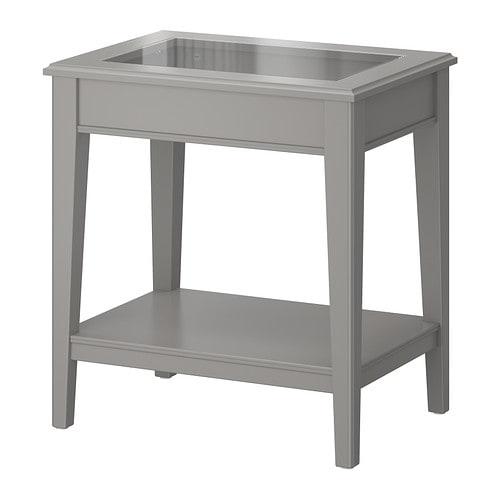 Liatorp mesa auxiliar gris vidrio ikea - Ikea mesas auxiliares ...
