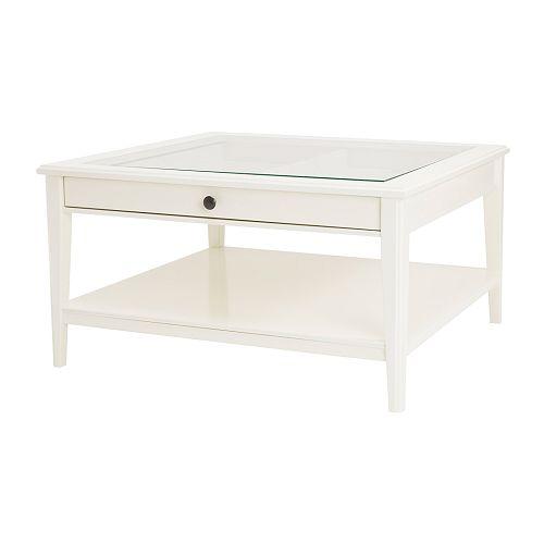 Liatorp mesa de centro blanco vidrio ikea for Ikea mesas salon centro